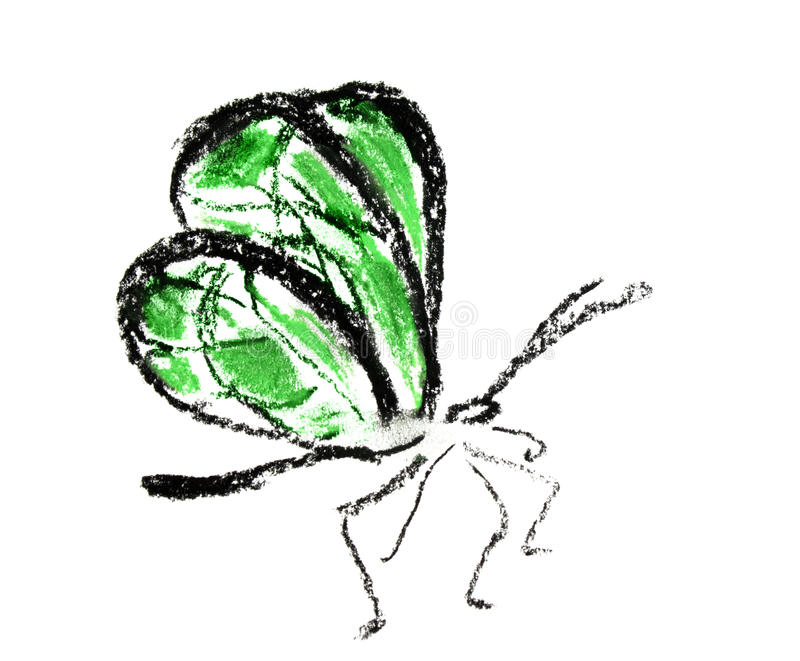 Download Green Butterfly Simple Illustration Stock Illustration - Image: 20210915
