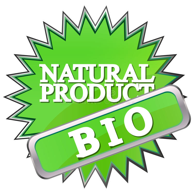 Download Green Button Labeled Natural Product Stock Vector - Image: 26172687