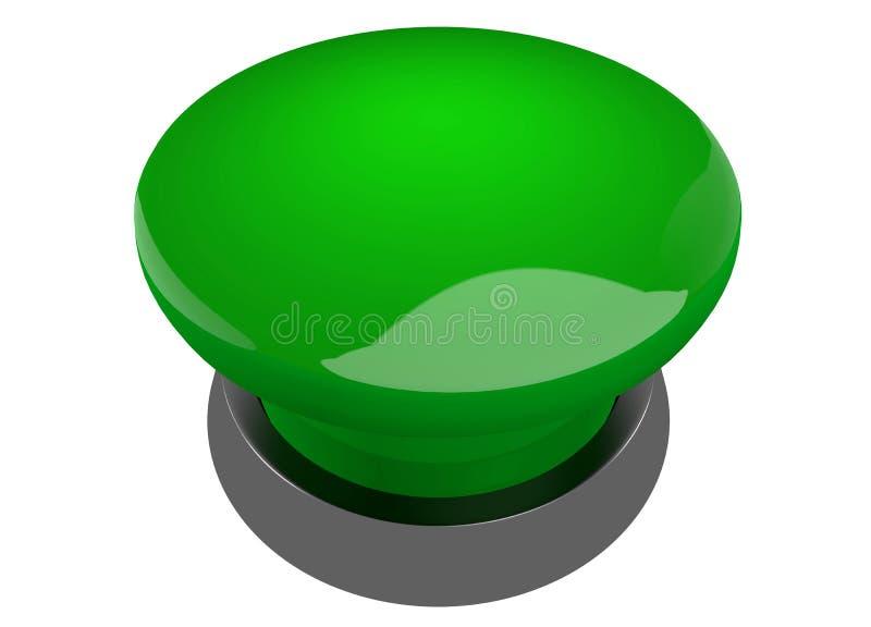 Green buzzer button royalty free illustration