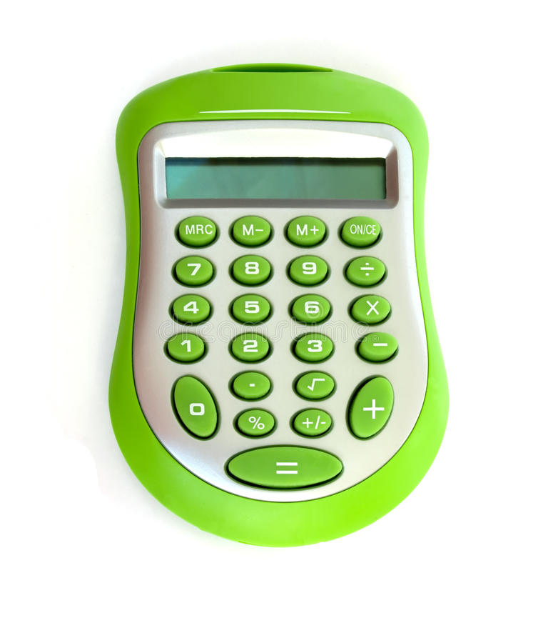 Free Green Calculator Stock Images - 9482284