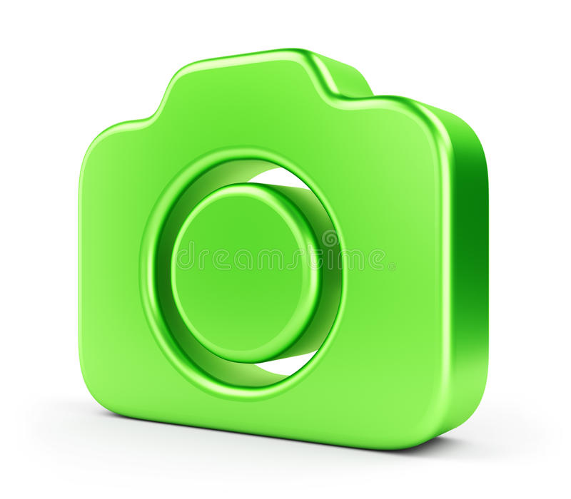Download Green camera icon stock illustration. Illustration of objective - 34893694