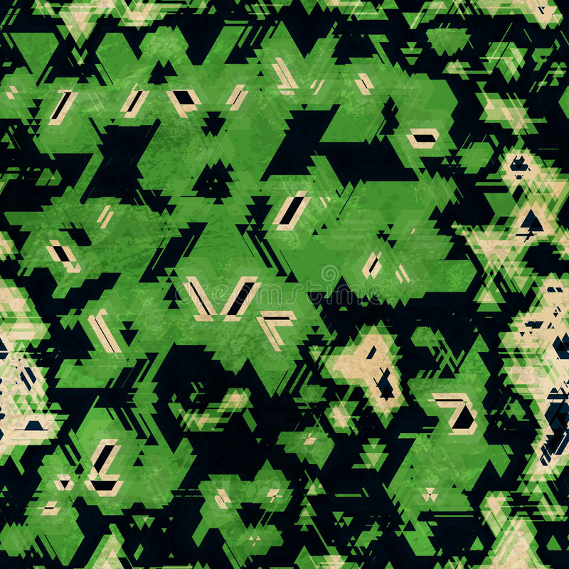 Green camouflage seamless texture stock illustration