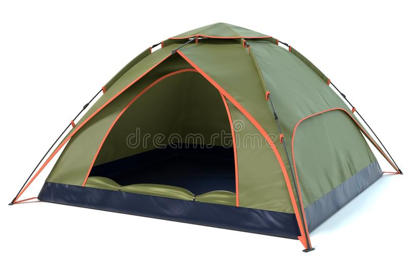 Green Camping Tent stock images
