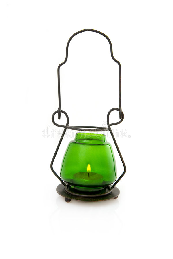 Free Green Candle Lamp Stock Image - 4880811