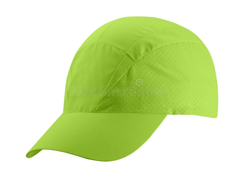 Green cap isolated on white background. Green cap isolated on a white background stock photography
