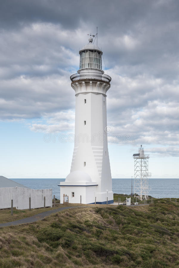 Green Cape Lighthouse, New South Wales, Australia. The most southerly lighthouse in New South Wales and the tallest classical tower, it was designed by James stock image