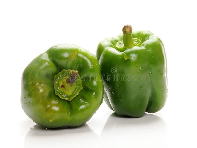 Green capsicum royalty free stock photo