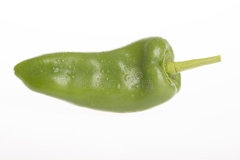Green capsicum isolated on white background stock photos