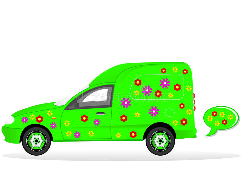 Download Green car stock vector. Image of pattern, floral, hydrogen - 19788555