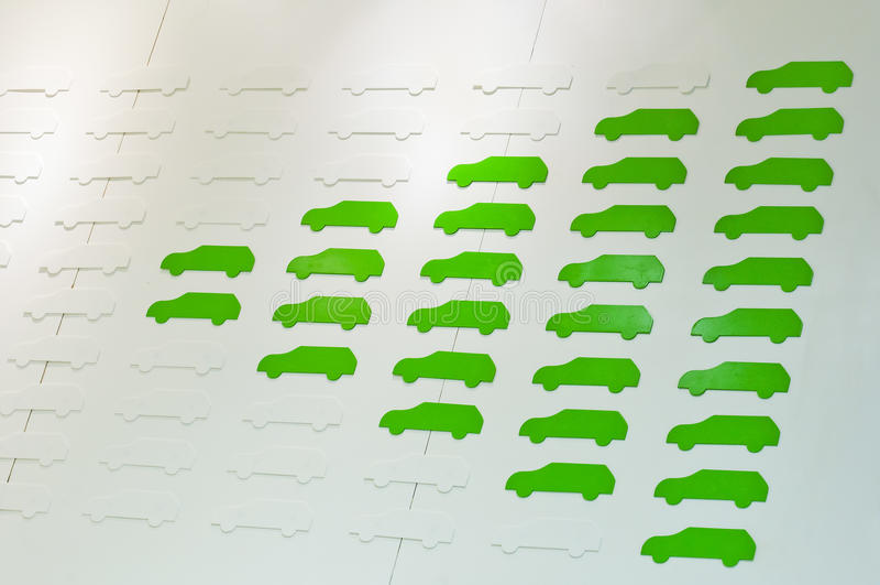Green car royalty free stock image