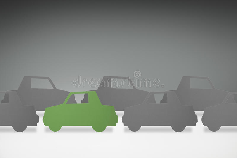 Green car concept stock illustration
