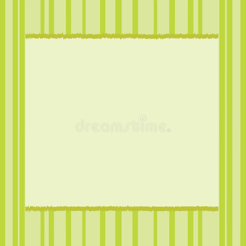 Green card. Green abstract background with stripes and place for text or image stock illustration