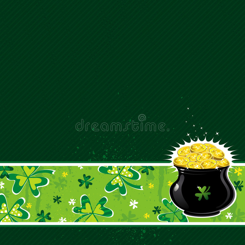 Download Green Card With Shamrock, Vector Illustration Stock Vector - Image: 8216843