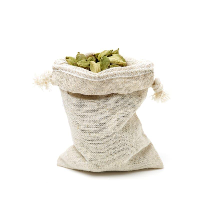 Green cardamom pods royalty free stock photo