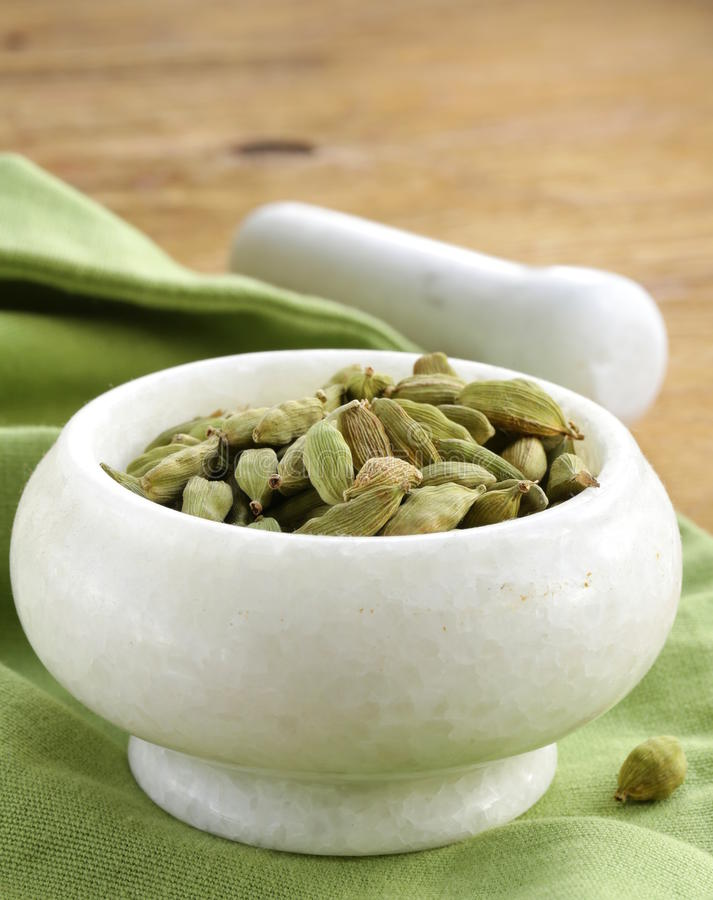Green cardamom pods spice stock images