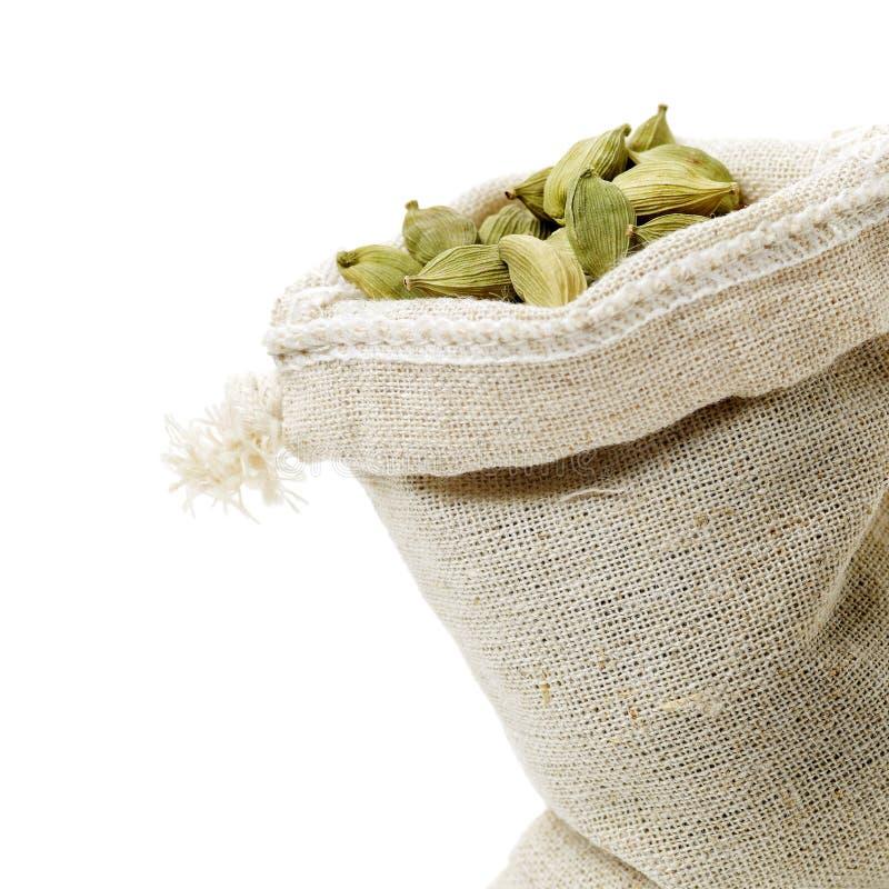 Green cardamom pods stock photography