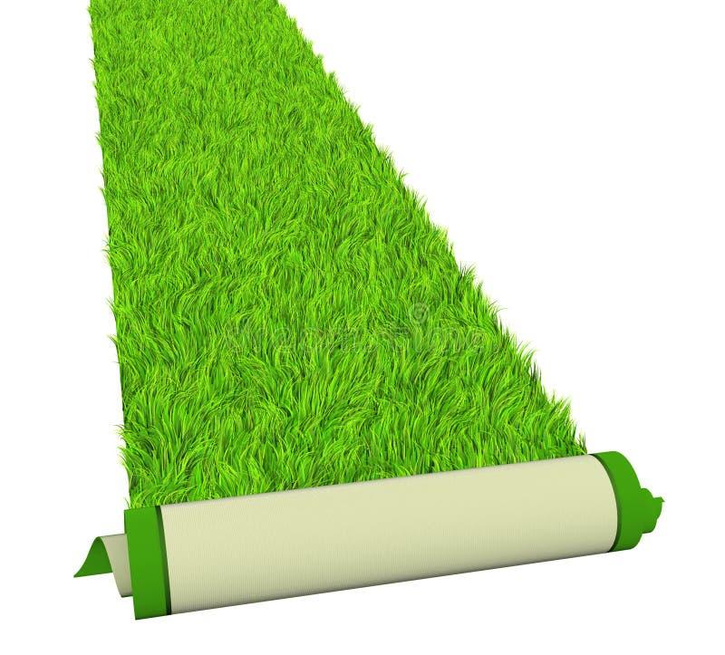 Green carpet vector illustration