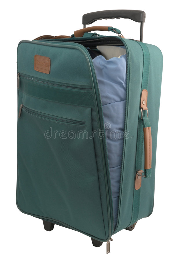 Download Green Carry-on Case stock photo. Image of white, luggage - 6693658