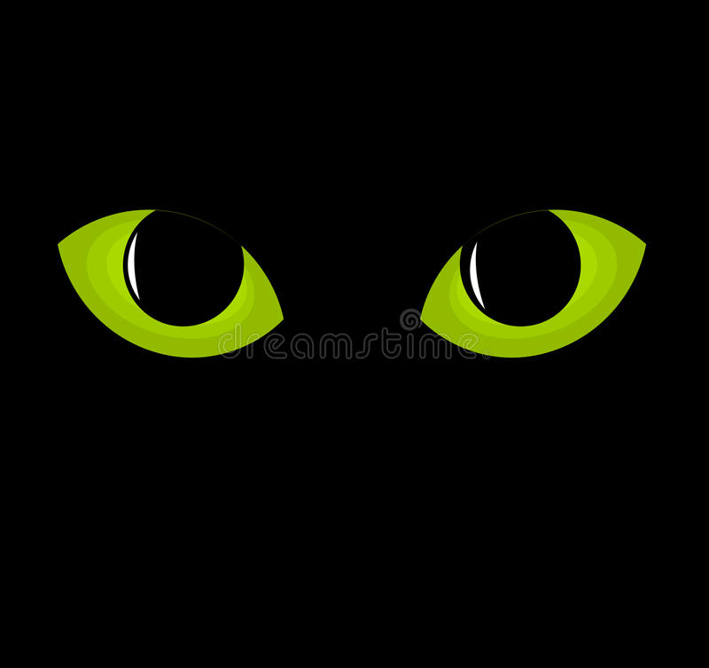 Download Green cat eyes stock vector. Illustration of green, look - 27049310