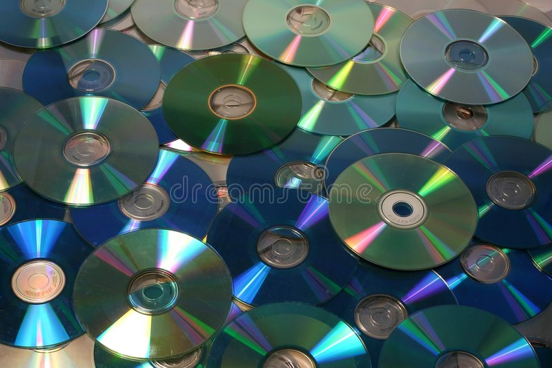 Green cd and dvd royalty free stock images