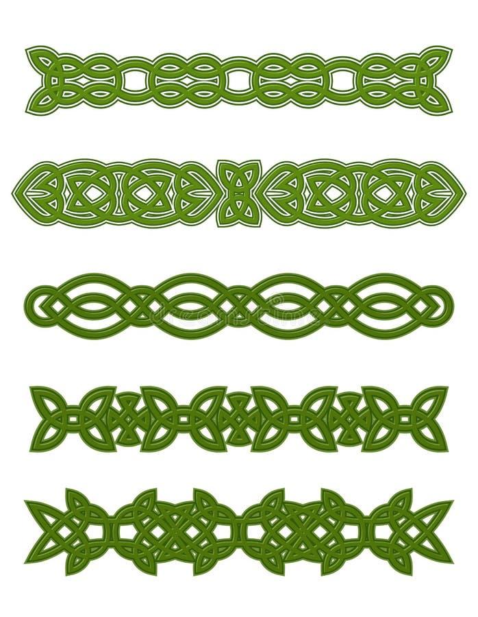 Green celtic ornaments royalty free illustration