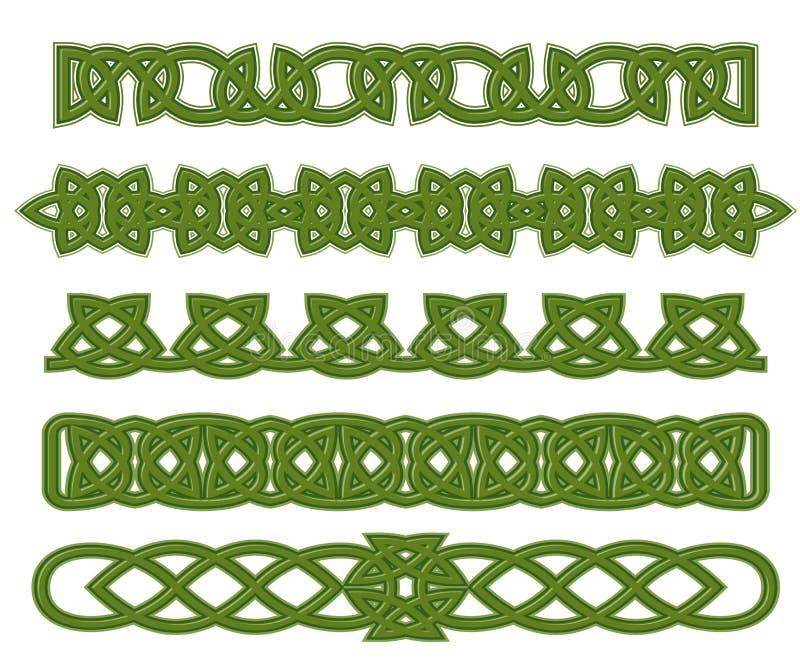 Green celtic ornaments vector illustration