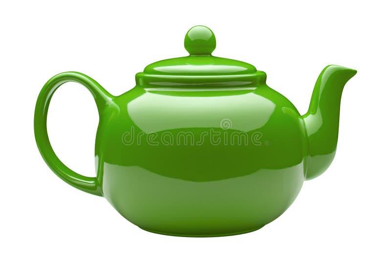Green Ceramic Teapot royalty free stock image