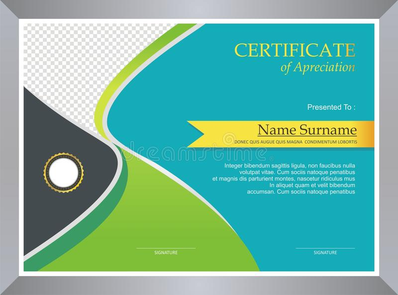 Green Certificate - Diploma Template design stock photography