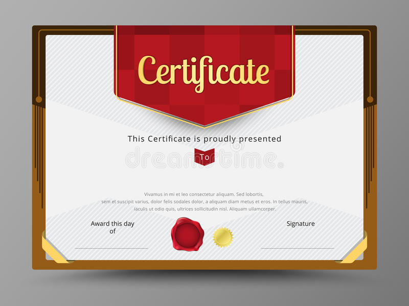 Green certificate template with gold ribbon decorate stock vector download green certificate template with gold ribbon decorate stock vector illustration of card yadclub Image collections