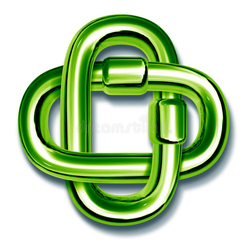 Download Green Chain Links Linked Together Stock Photography - Image: 18482912