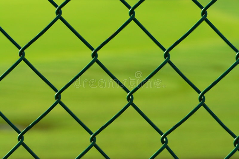 Green Chainlink Fence stock photos
