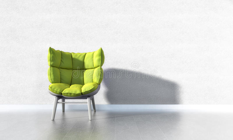 Download Green Chair stock illustration. Image of plastering, comfortable - 36981178
