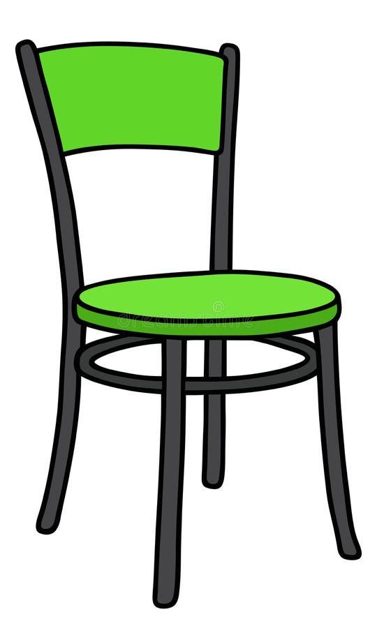 Green chair royalty free illustration