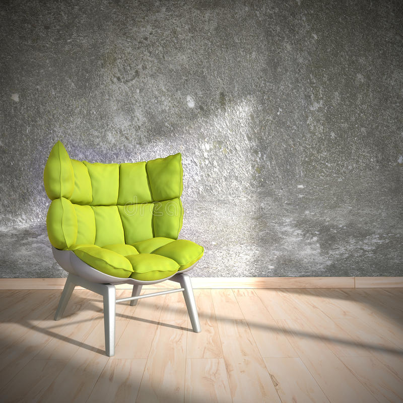 Download Green Chair stock illustration. Illustration of render - 35098454