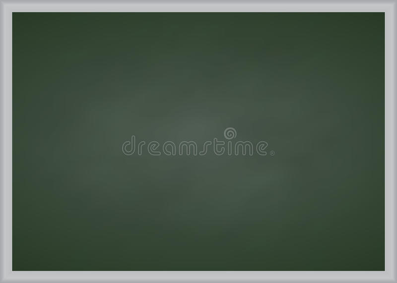 Green chalk board with metal frame. Vector illustration royalty free stock photography