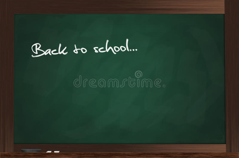 Download Green Chalkboard stock illustration. Image of lessons - 20677543