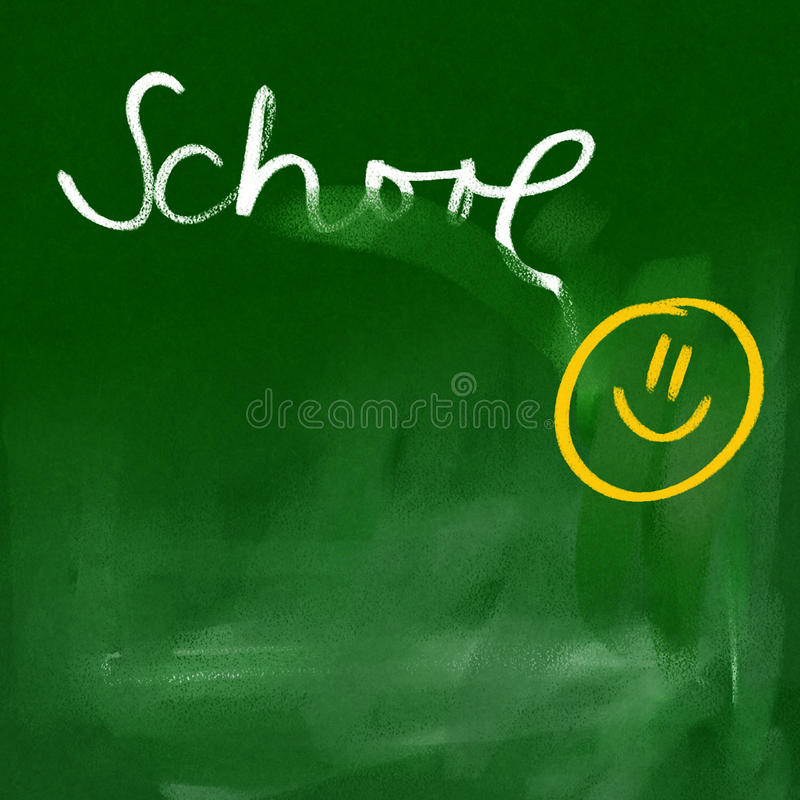 Green chalkboard background - happy school royalty free illustration