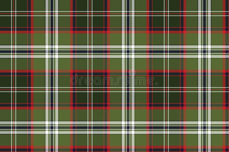 Green check plaid pixel seamless fabric texture stock illustration