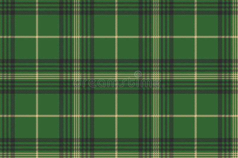 Green check plaid tartan seamless pattern royalty free illustration