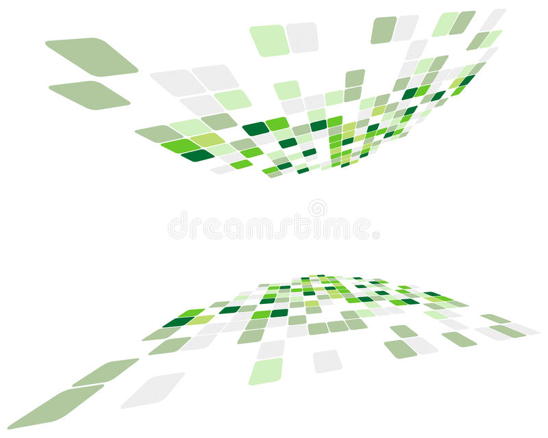 Green Checked Background Stock Photography