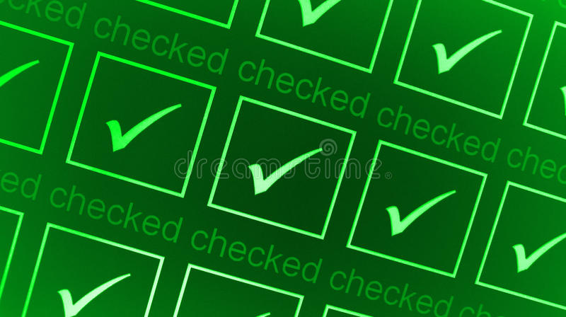 Download Green checked boxes stock illustration. Image of illustration - 15446741