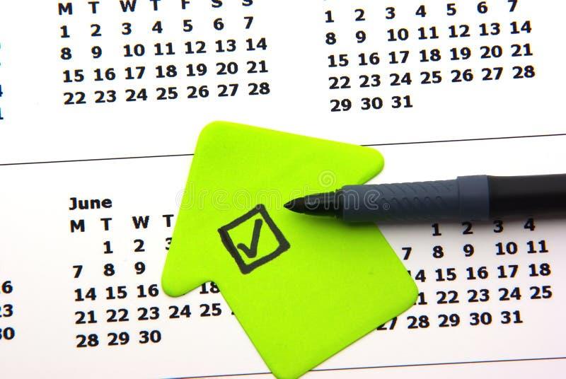 Green Checklist On Calendar Stock Image