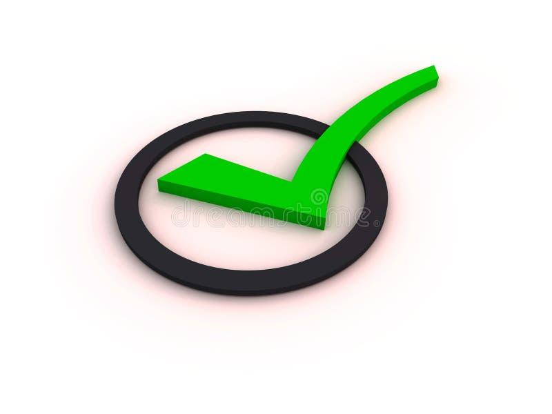 Download Green Checkmark Item stock illustration. Illustration of checklist - 21608531