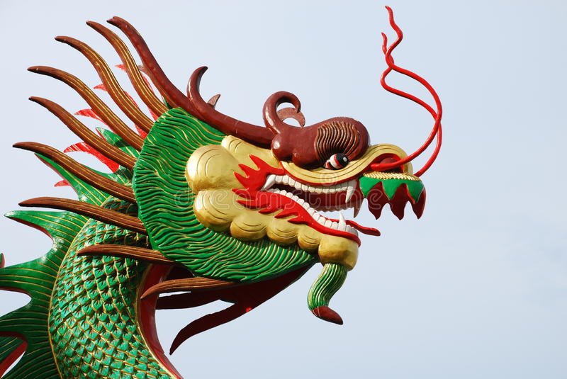 Green Chinese Dragon royalty free stock images