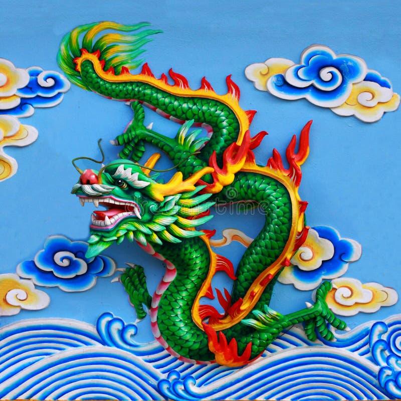 Green chinese dragon royalty free stock image