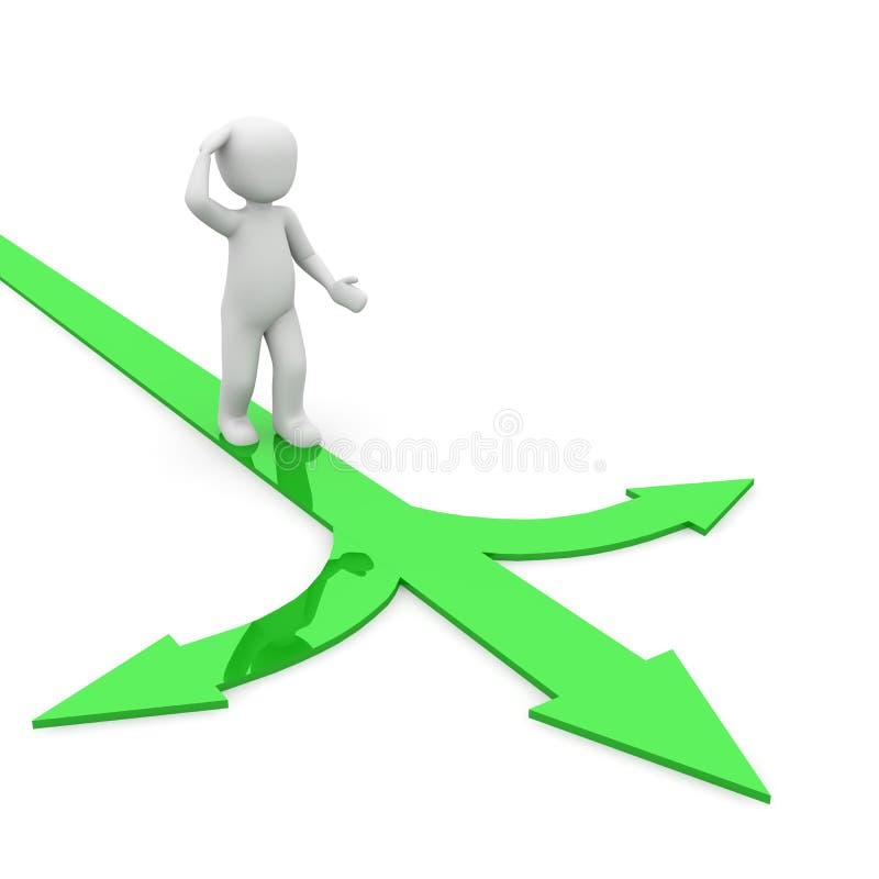 Download Green choice stock illustration. Illustration of bianco - 31580634