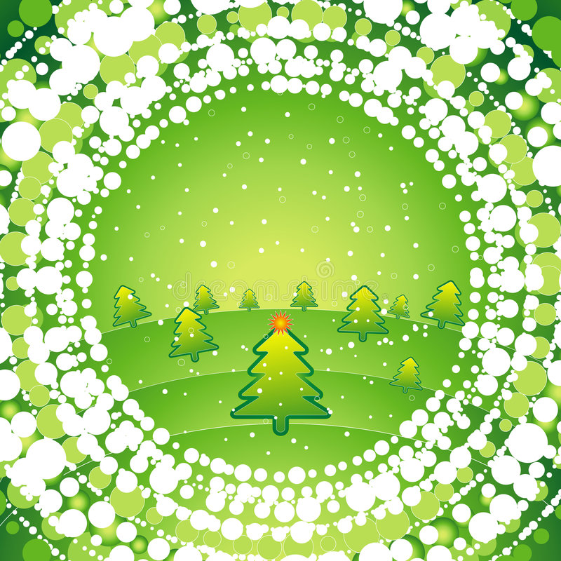 Green christmas background stock photography
