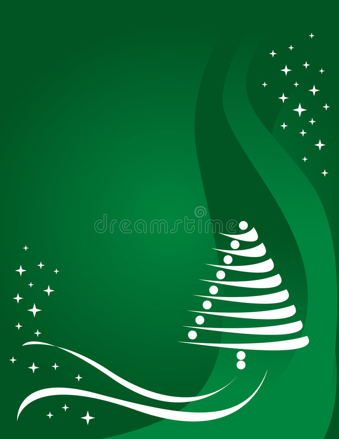 Download Green Christmas background stock vector. Image of winter - 5013608