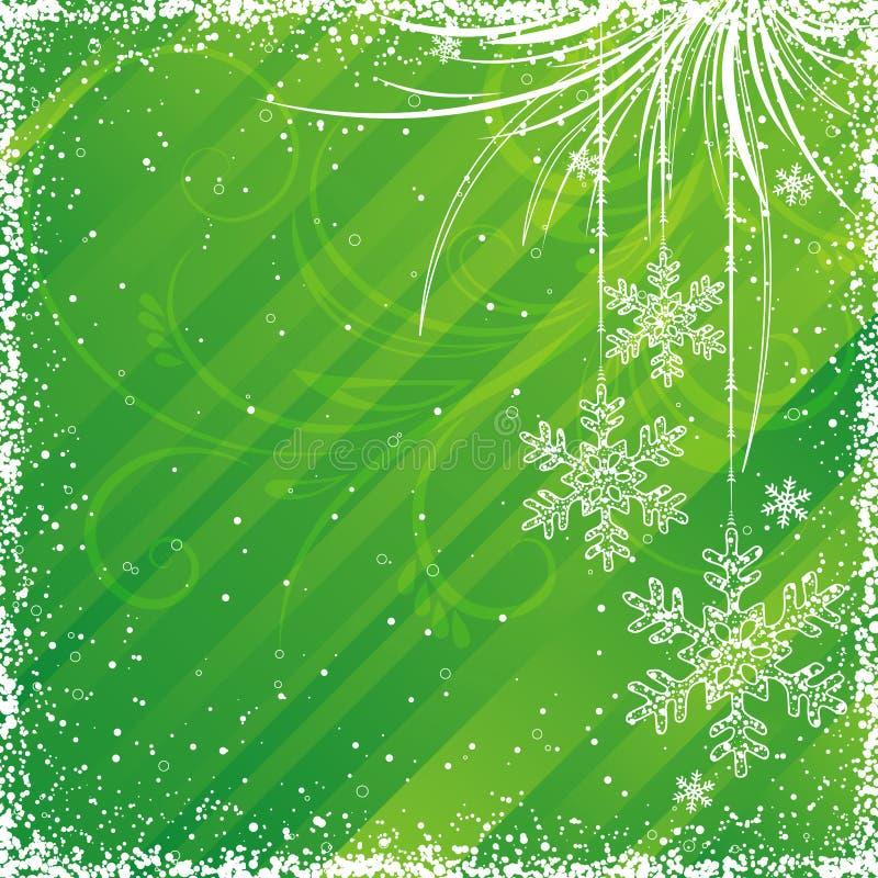 green christmas background stock illustration