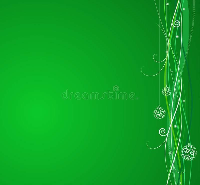 Download Green Christmas background stock vector. Illustration of floral - 6578681